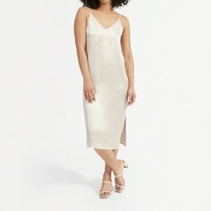 Everlane NWT the Party Slip Dress midi in Stone